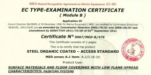 MED A.1 item A.1/3.18 (b) -Certificato n. 0987/MED-B/476