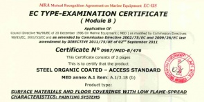 MED A.1 item A.1/3.18 (b) - Certificate n. 0987/MED-B/476